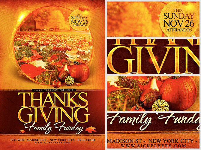 Thanksgiving Flyer Template Free Inspirational Thanksgiving Funday Flyer Template Flyerheroes
