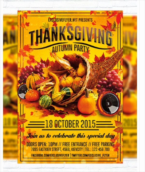 Thanksgiving Flyer Template Free Lovely 18 Thanksgiving Flyers Free Psd Ai Eps format