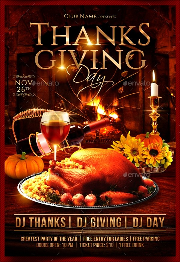 Thanksgiving Flyer Template Free Luxury 18 Thanksgiving Flyers Free Psd Ai Eps format