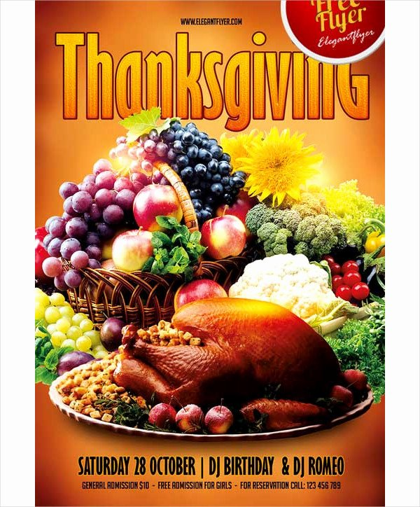 Thanksgiving Flyer Template Free Luxury 27 Thanksgiving Flyer Templates Free & Premium Download