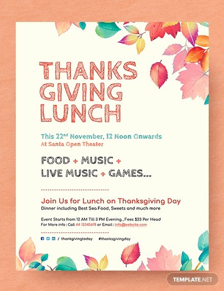 Thanksgiving Flyer Template Free Unique Free Printable Thanksgiving Party Flyer Template Download