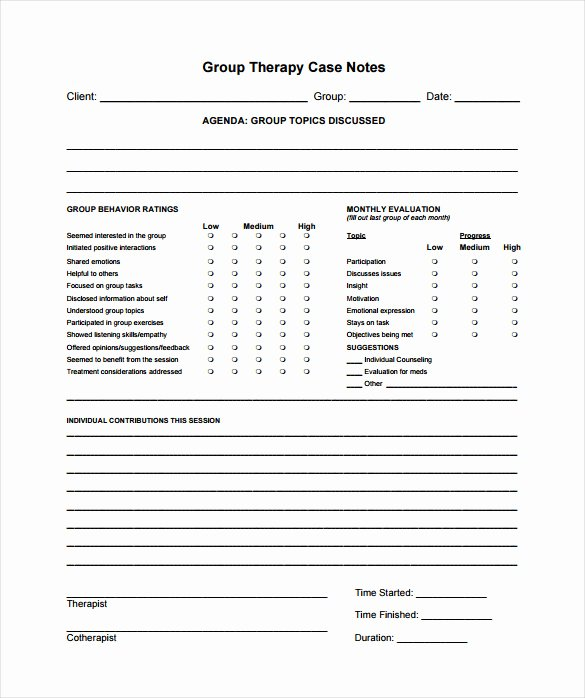 Therapist Progress Note Template Fresh Case Notes Template – 7 Free Word Pdf Documents Download