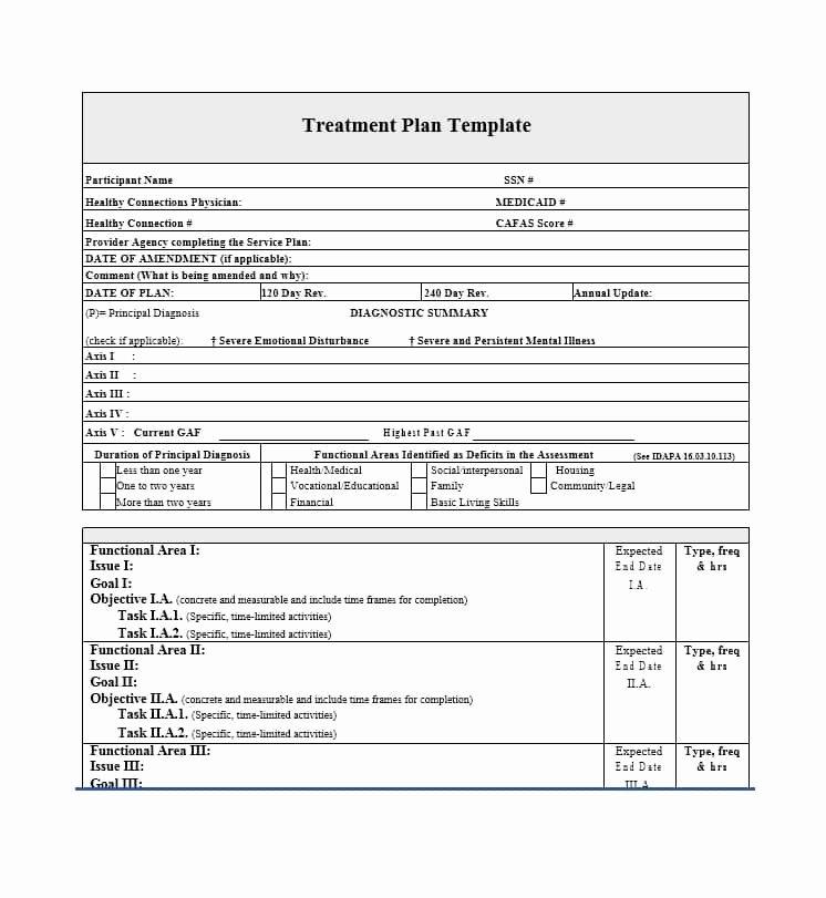Therapist Treatment Plan Template Inspirational 35 Treatment Plan Templates Mental Dental Chiropractic