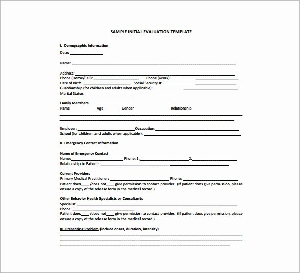 Therapist Treatment Plan Template New Treatment Plan Template