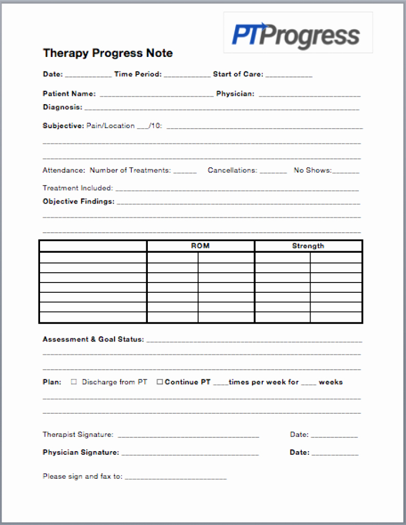 Therapy Progress Note Template Best Of How to Write A Progress Note