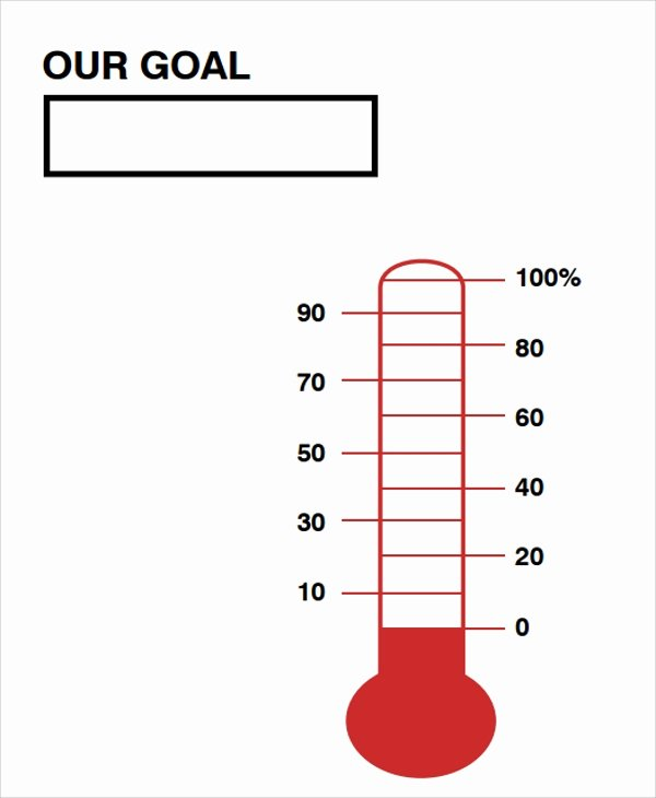 Thermometer Goal Chart Template Elegant 10 Sample thermometer Templates