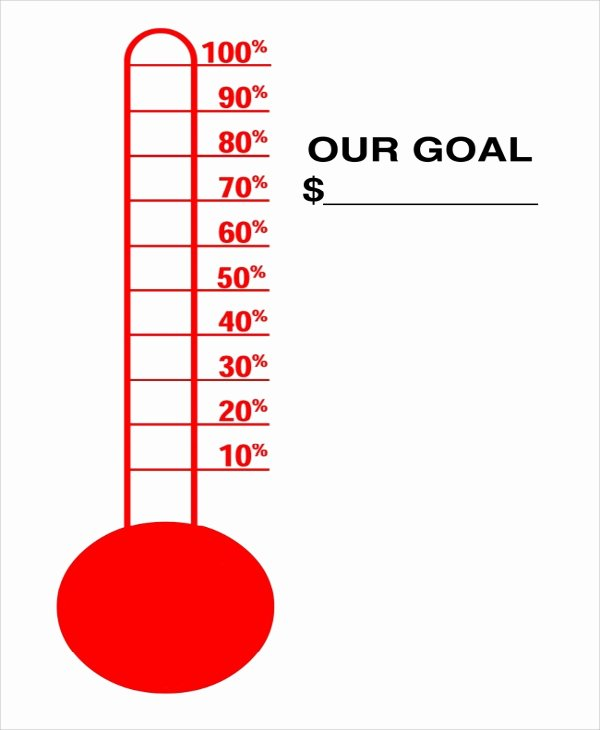 Thermometer Goal Chart Template Inspirational 10 Sample thermometer Templates