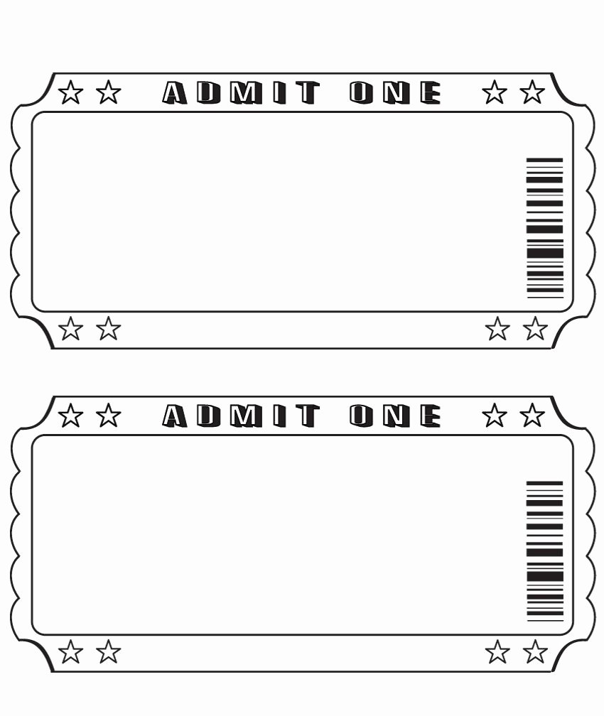 Ticket Maker Template Free Unique Blank Ticket … Diy and Crafts