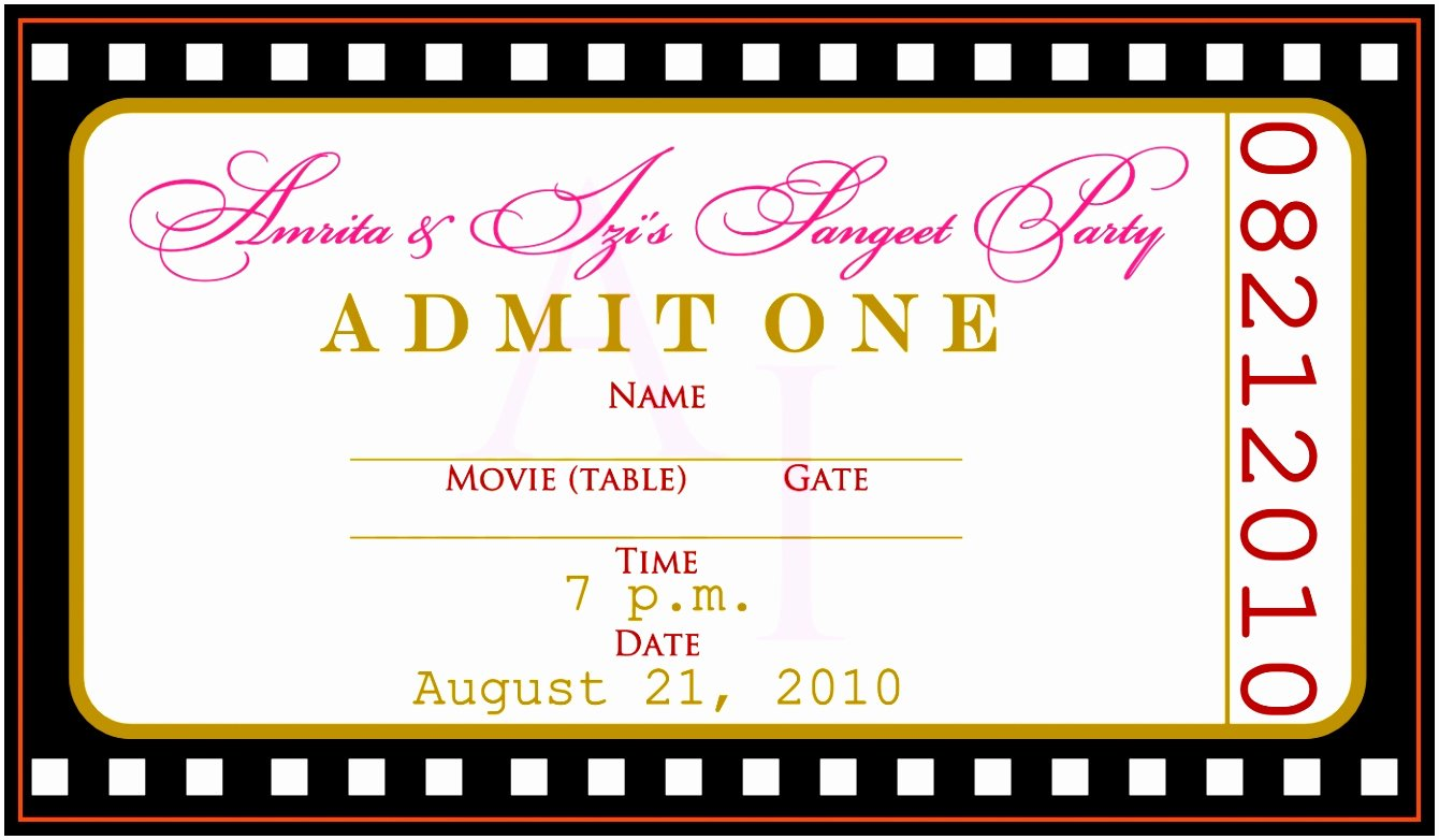 Ticket Template for Word Beautiful 12 Concert Ticket Invitation Template Free Uottu