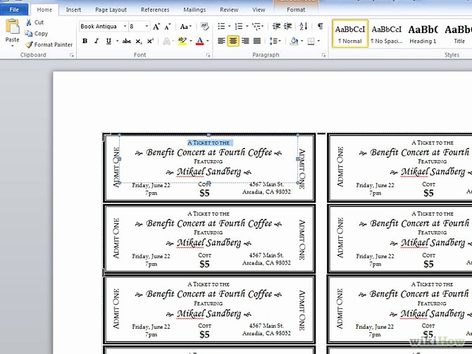 Ticket Template for Word Best Of 9 Best Of Microsoft Word Ticket Template Printable