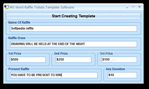 Ticket Template for Word Best Of Download Ms Word Raffle Tickets Template software 7 0