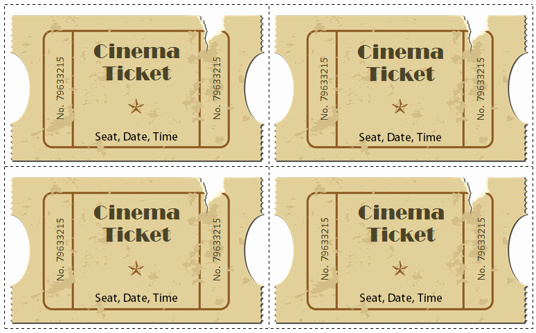 Ticket Template for Word Fresh 6 Movie Ticket Templates to Design Customized Tickets