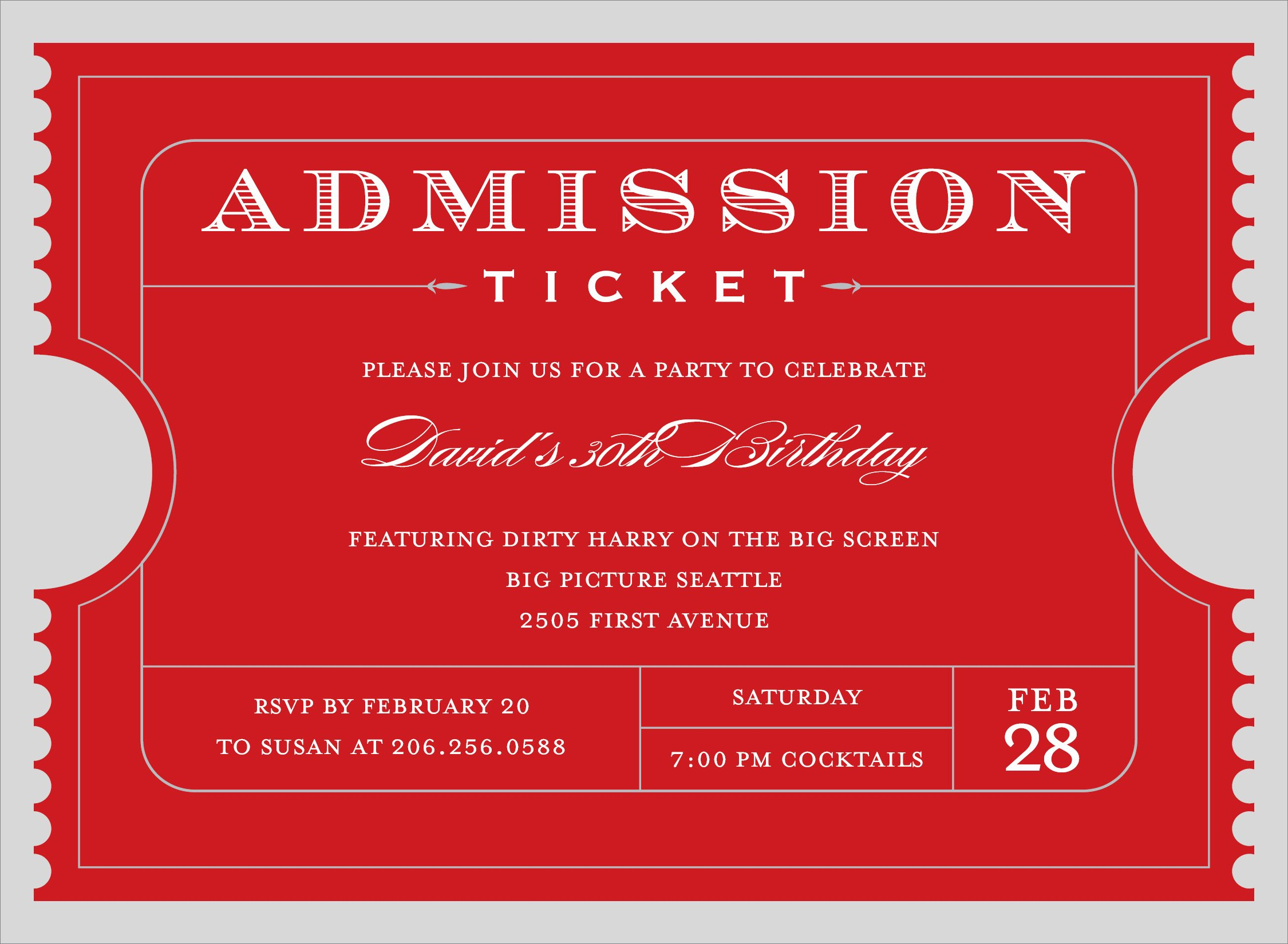Ticket Template for Word Lovely 4 Free Admission Ticket Templates Word Excel Pdf formats