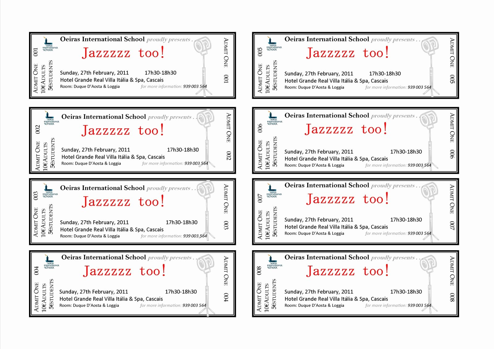Ticket Template for Word New event Ticket Template