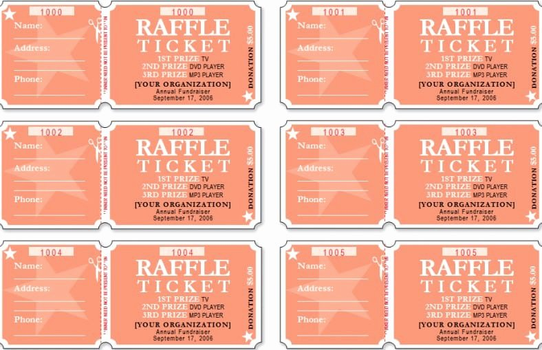 Ticket Template for Word Unique Raffle Ticket Templates Word Templates Docs