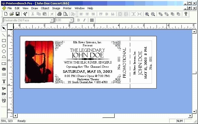 Ticket Template Microsoft Word Best Of Microsoft Word event Ticket Template Admission Ticket