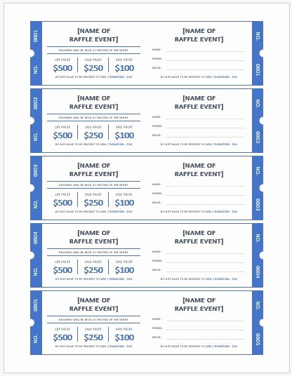 Ticket Template Microsoft Word Best Of Ms Word Raffle Ticket Templates