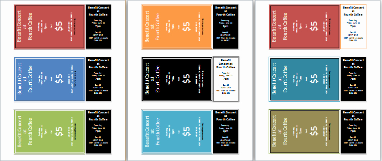 Ticket Template Microsoft Word Elegant Ms Word Editable and Printable event Tickets Template