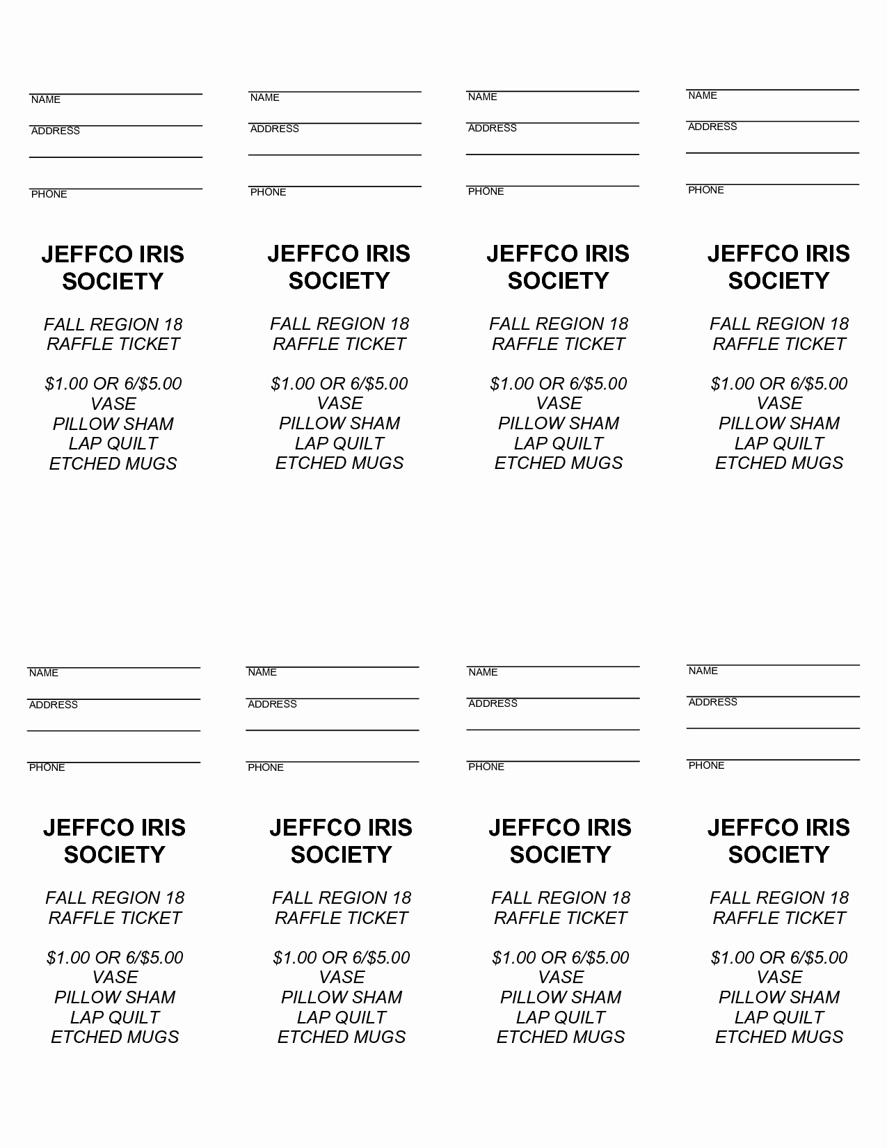 Ticket Template Microsoft Word New 4 Best Of Free Printable Raffle Ticket Templates