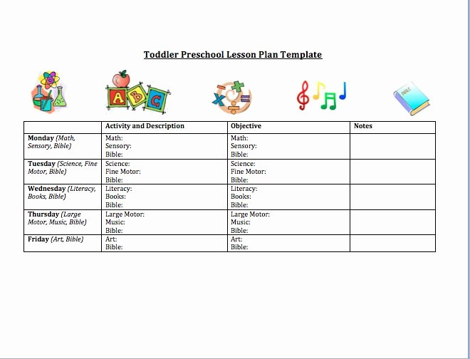 Toddler Lesson Plan Template Best Of toddler Preschool Lesson Plan Template