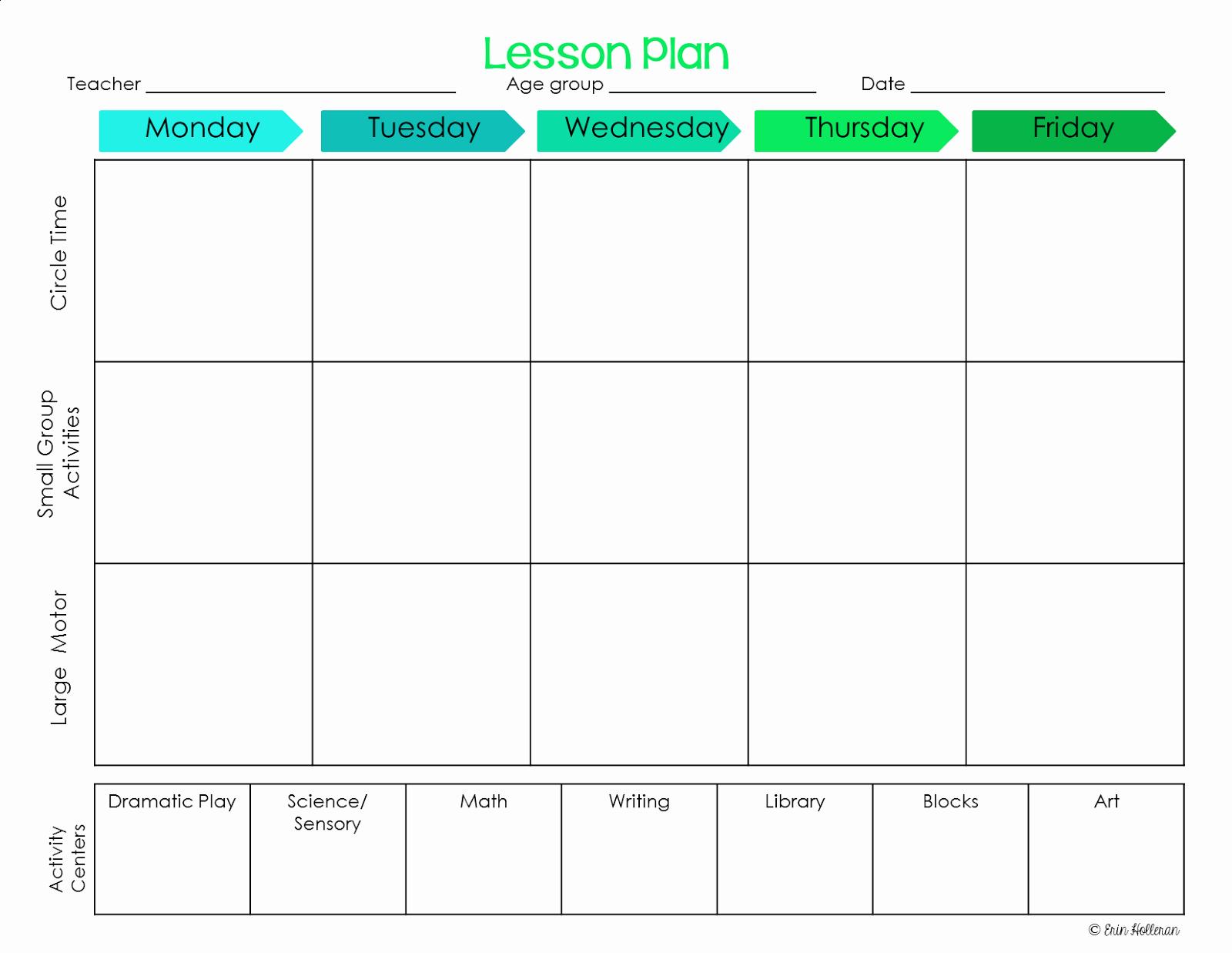 Toddler Lesson Plan Template Elegant Preschool Ponderings Make Your Lesson Plans Work for You