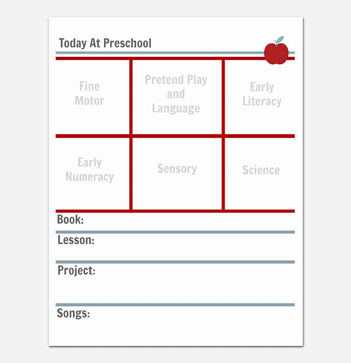 Toddler Lesson Plan Template Fresh Preschool Lesson Plan Template Daily Weekly Monthly