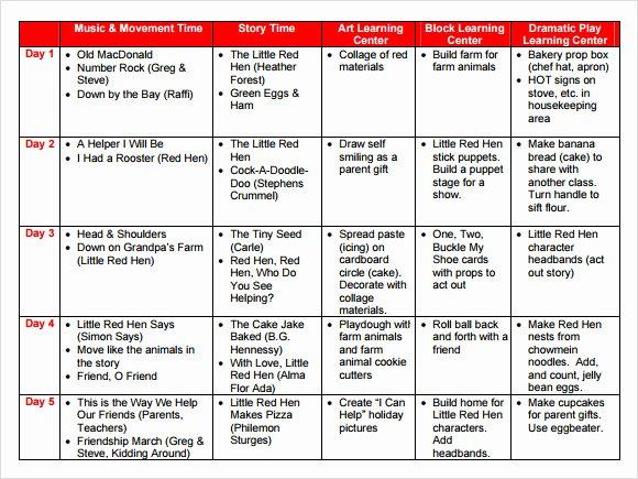 Toddler Lesson Plan Template Lovely 10 Sample Preschool Lesson Plans