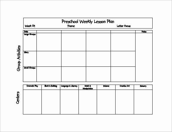 Toddler Lesson Plan Template Unique 21 Preschool Lesson Plan Templates Doc Pdf Excel