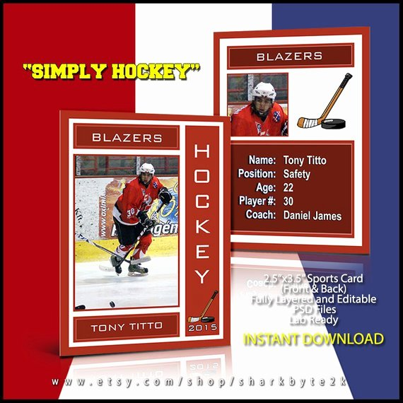 Topps Baseball Card Template Lovely 2019 Hockey Lacrosse Sports Trader Trading Card Template