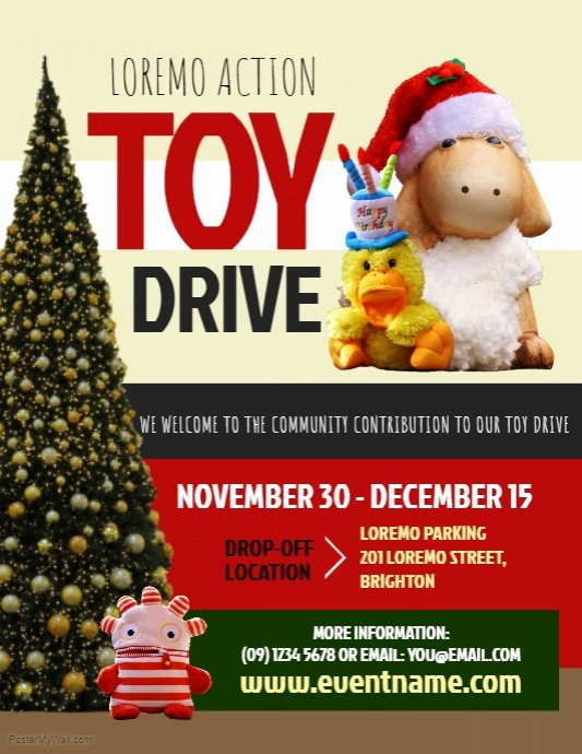 Toy Drive Flyer Template Beautiful toy Drive Flyer Template