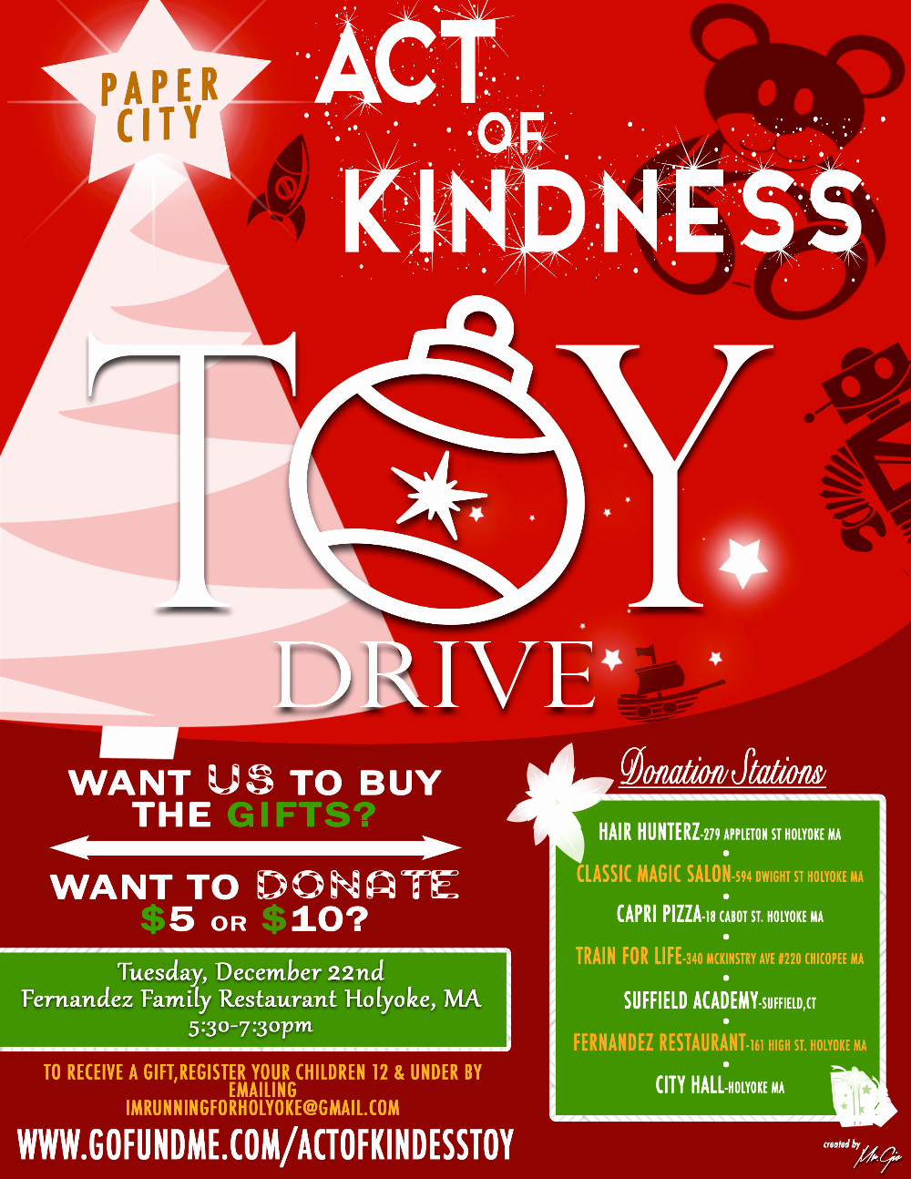 Toy Drive Flyer Template Best Of Holyoke Act Of Kindness toy Drive by Harry Melendez Gofundme