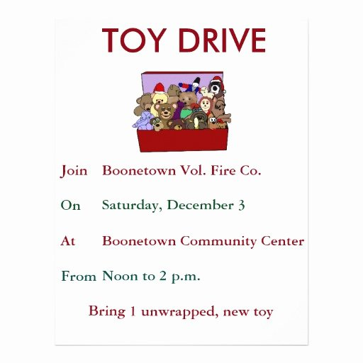 Toy Drive Flyer Template Lovely toy Drive Template Flyer