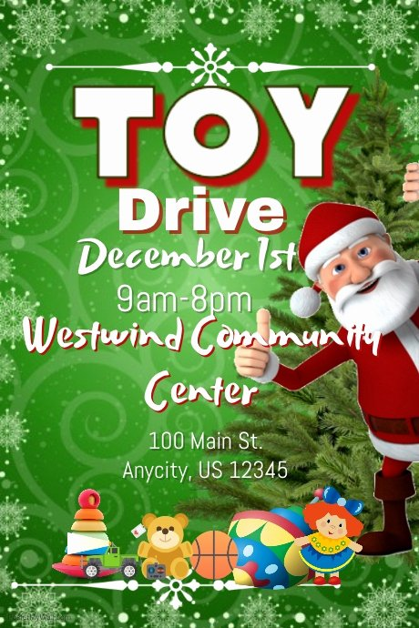 Toy Drive Flyer Template Luxury toy Drive Template