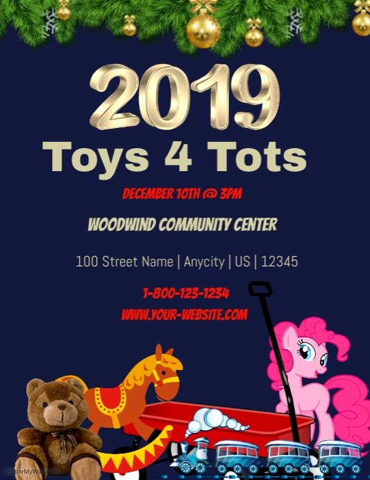 Toy Drive Flyer Template Luxury toys 4 tots Findraising Template
