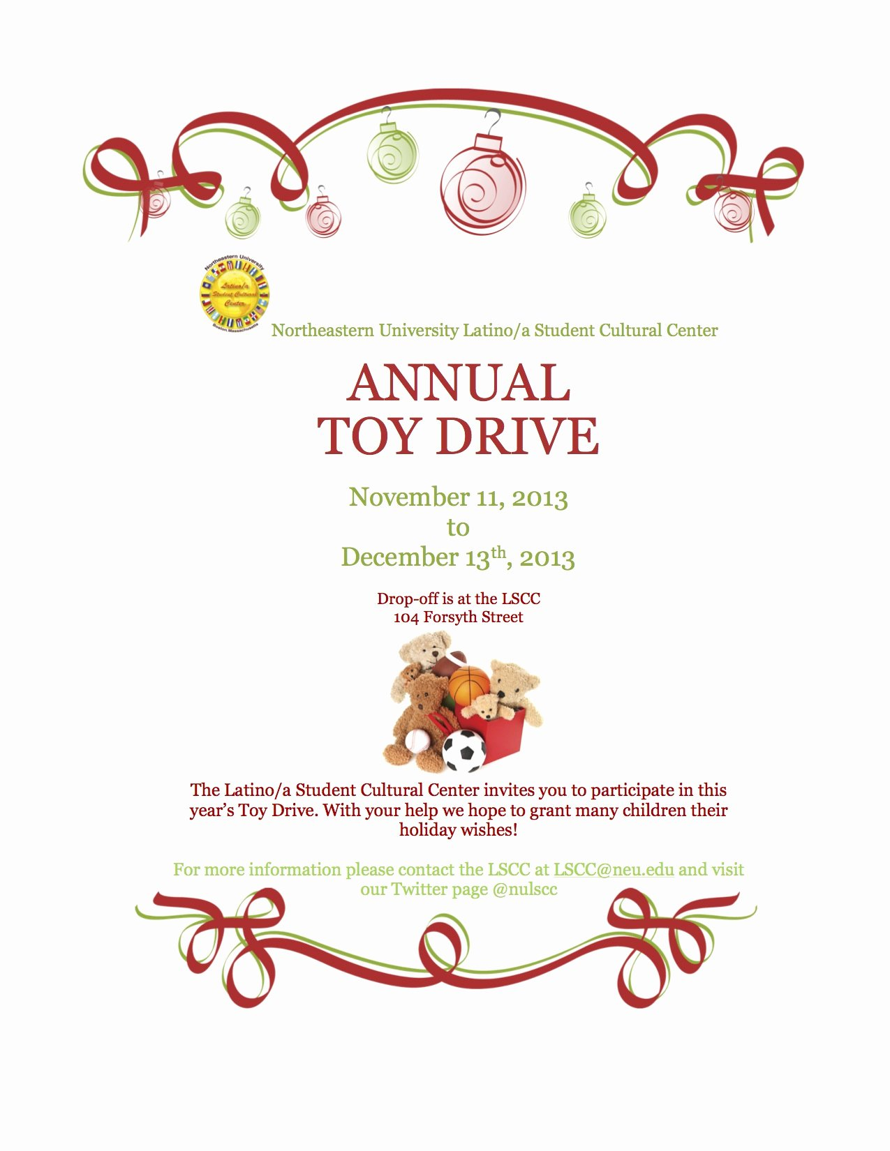 Toy Drive Flyer Template New Lscc toy Drive