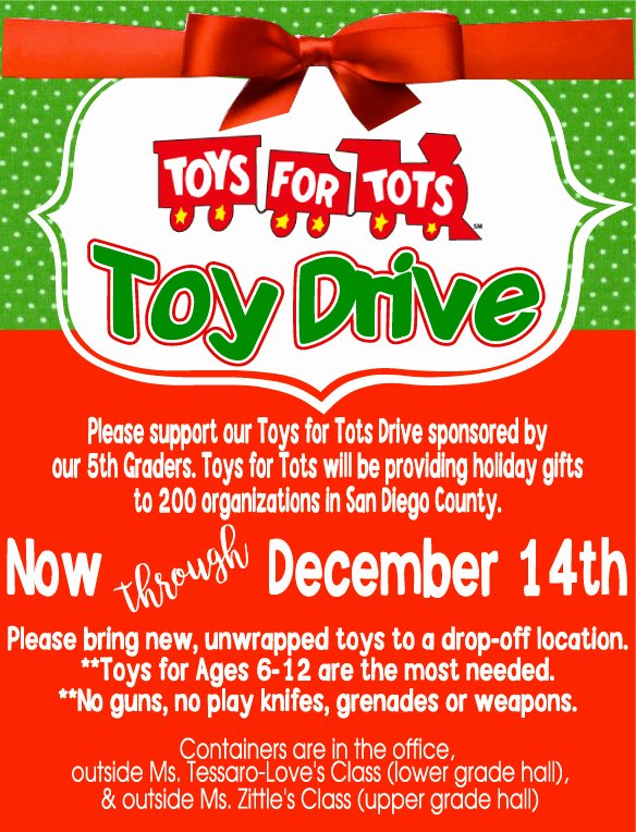 Toy Drive Flyer Template New toys for tots toy Drive Friends Of Crown Point Jr Music