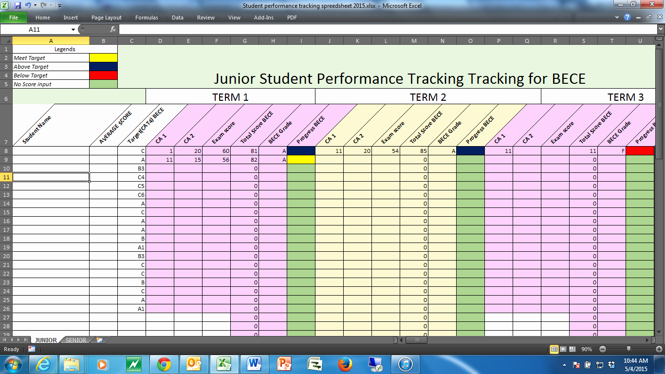Tracking Student Progress Template Fresh Tracking Students Performance In A Dual Curriculum School