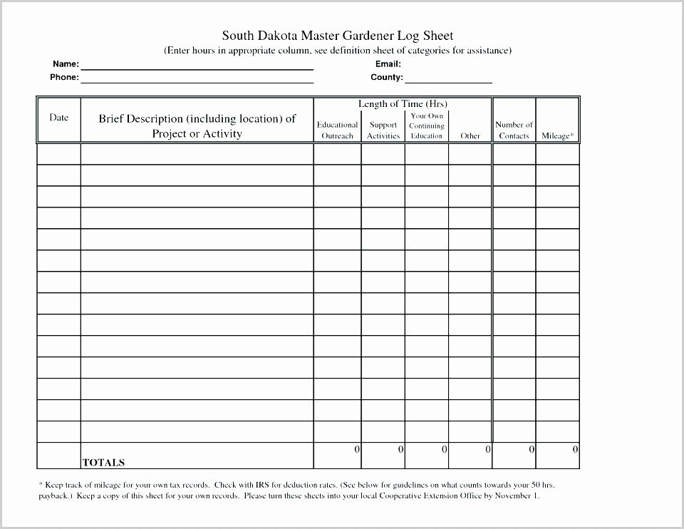 Tracking Volunteer Hours Template Best Of Hours Sheet Log Template – Freewarearenafo