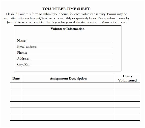 Tracking Volunteer Hours Template Fresh 18 Volunteer Timesheet Templates – Free Sample Example