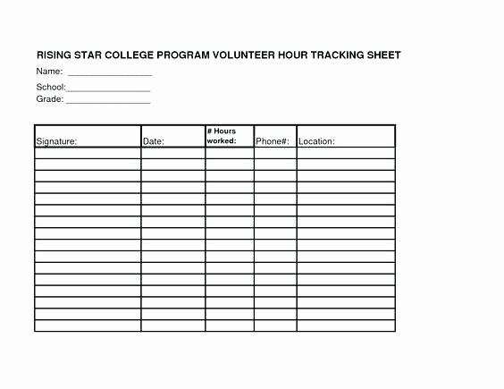 Tracking Volunteer Hours Template Inspirational Excel Spreadsheet Template Line Sheet All form Templates