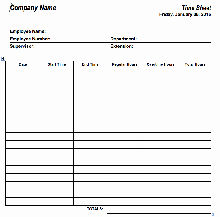 Tracking Volunteer Hours Template New 6 Free Timesheet Templates for Tracking Employee Hours
