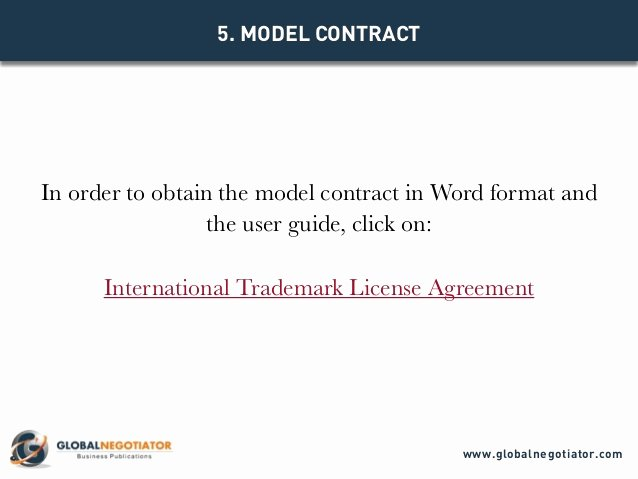 Trademark License Agreement Template Lovely International Trademark License Agreement Contract