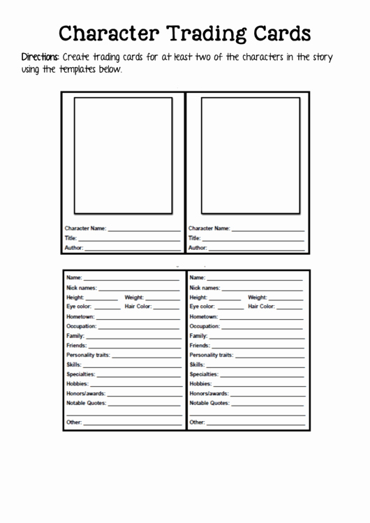 Trading Card Game Template Best Of 2 Trading Card Templates Free to In Pdf