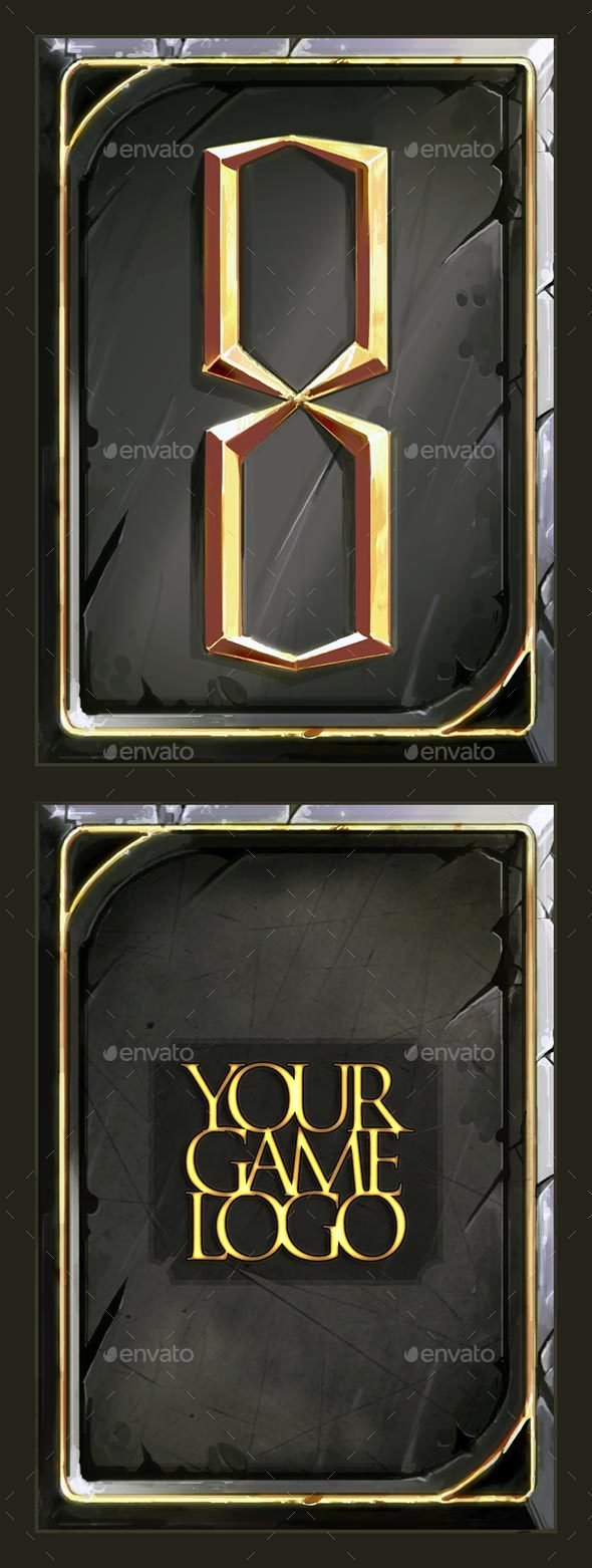 Trading Card Game Template Elegant Fantasy Trading or Collectible Card Back Template by