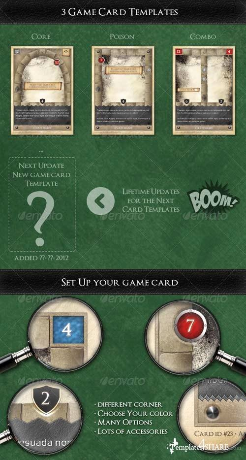 Trading Card Game Template Inspirational Graphicriver Tcg Fantasy Trading Card Game Kit In