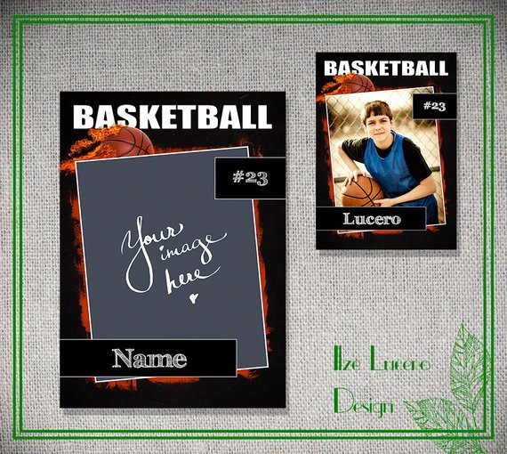Trading Card Template Free Fresh Psd Basketball Trading Card Template