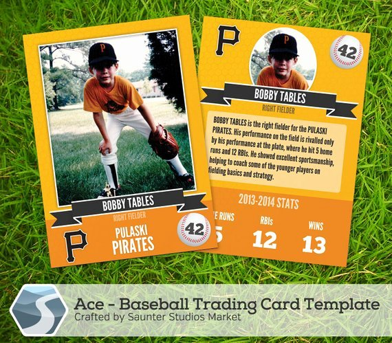Trading Card Template Free New Ace Baseball Trading Card 2 5 X 3 5 Shop by