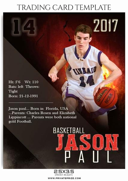 Trading Card Template Photoshop Beautiful Sports Trading Card