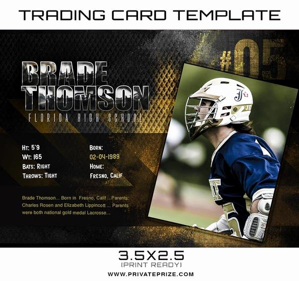 Trading Card Template Photoshop Best Of Sports Trading Card