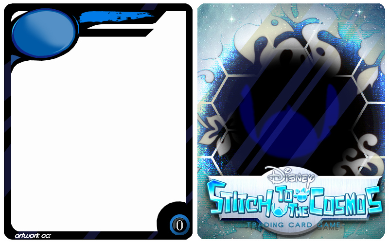 Trading Card Template Photoshop Best Of Stitch to the Cosmos Card Template by Haisai Dbarenzu On